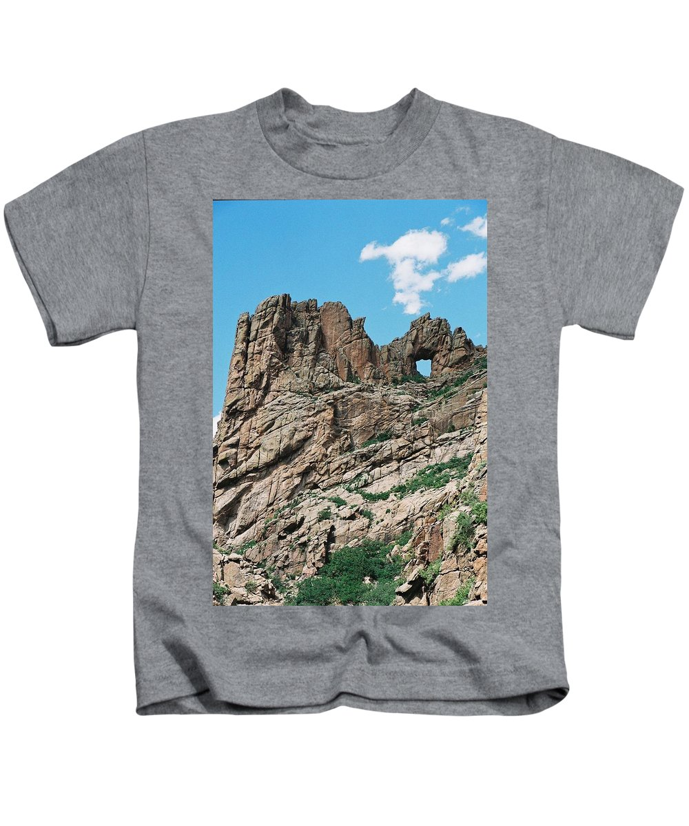 Shelf Road Kids T-Shirt featuring the photograph Shelf Road Rock Formations by Anita Burgermeister