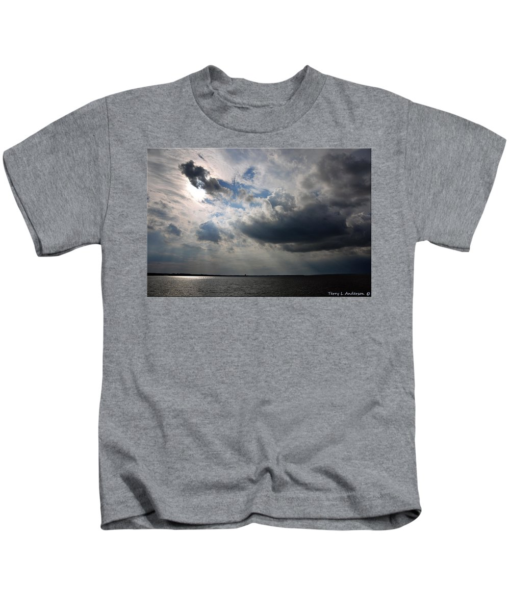 Landscape Kids T-Shirt featuring the photograph Shining Through by Terry Anderson