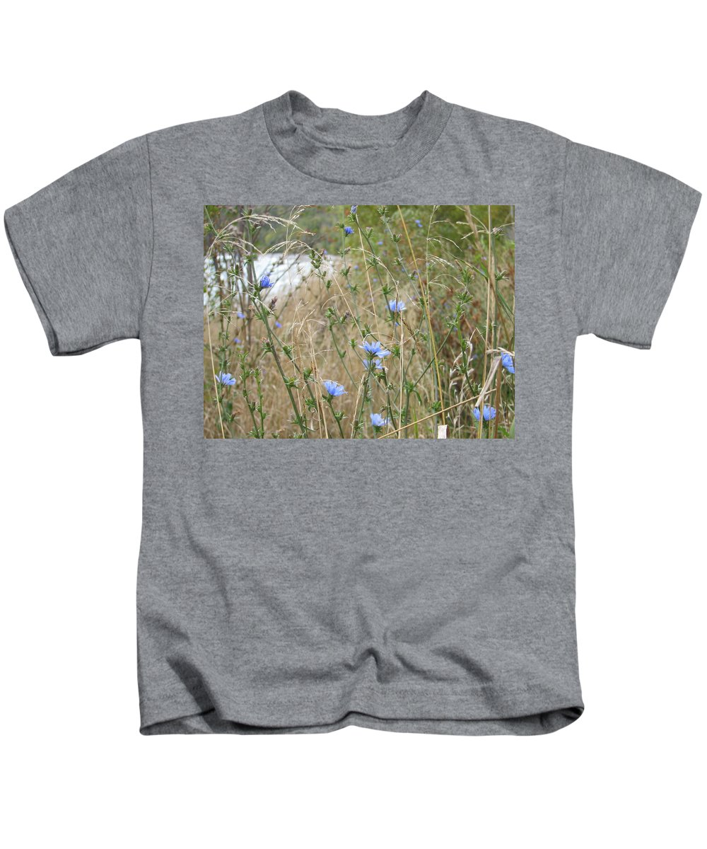 Flower Kids T-Shirt featuring the photograph Shore Flowers by Kelly Mezzapelle