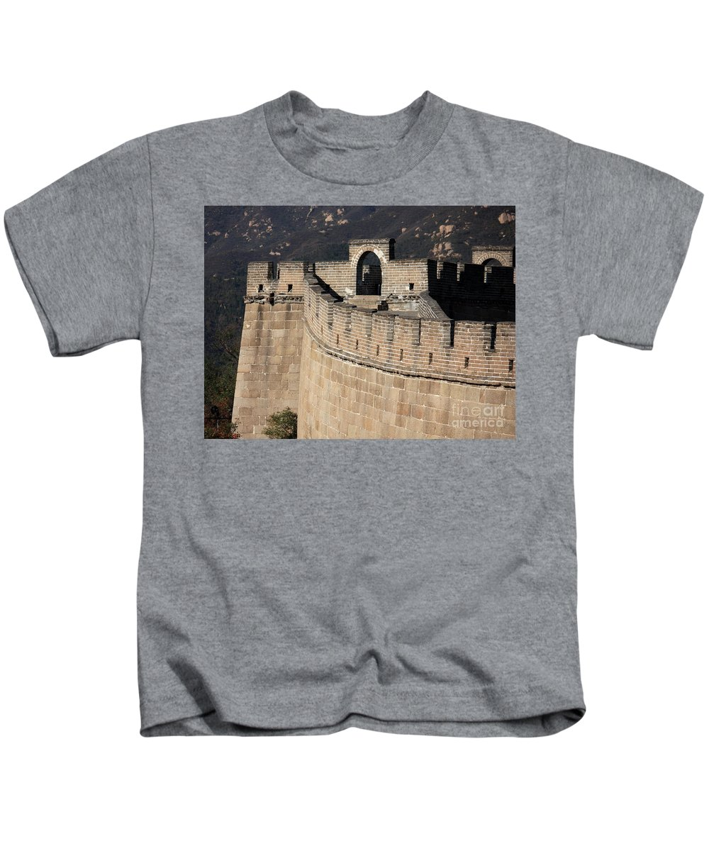 The Great Wall Of China Kids T-Shirt featuring the photograph Side View Of The Great Wall by Carol Groenen
