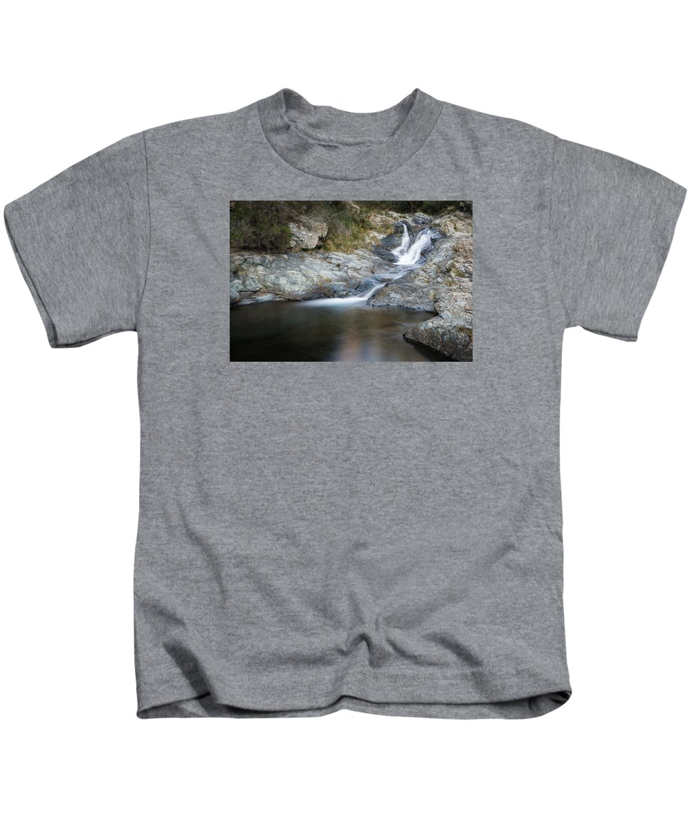 Arenzano Kids T-Shirt featuring the photograph Silky Stream by Claudio Bergero