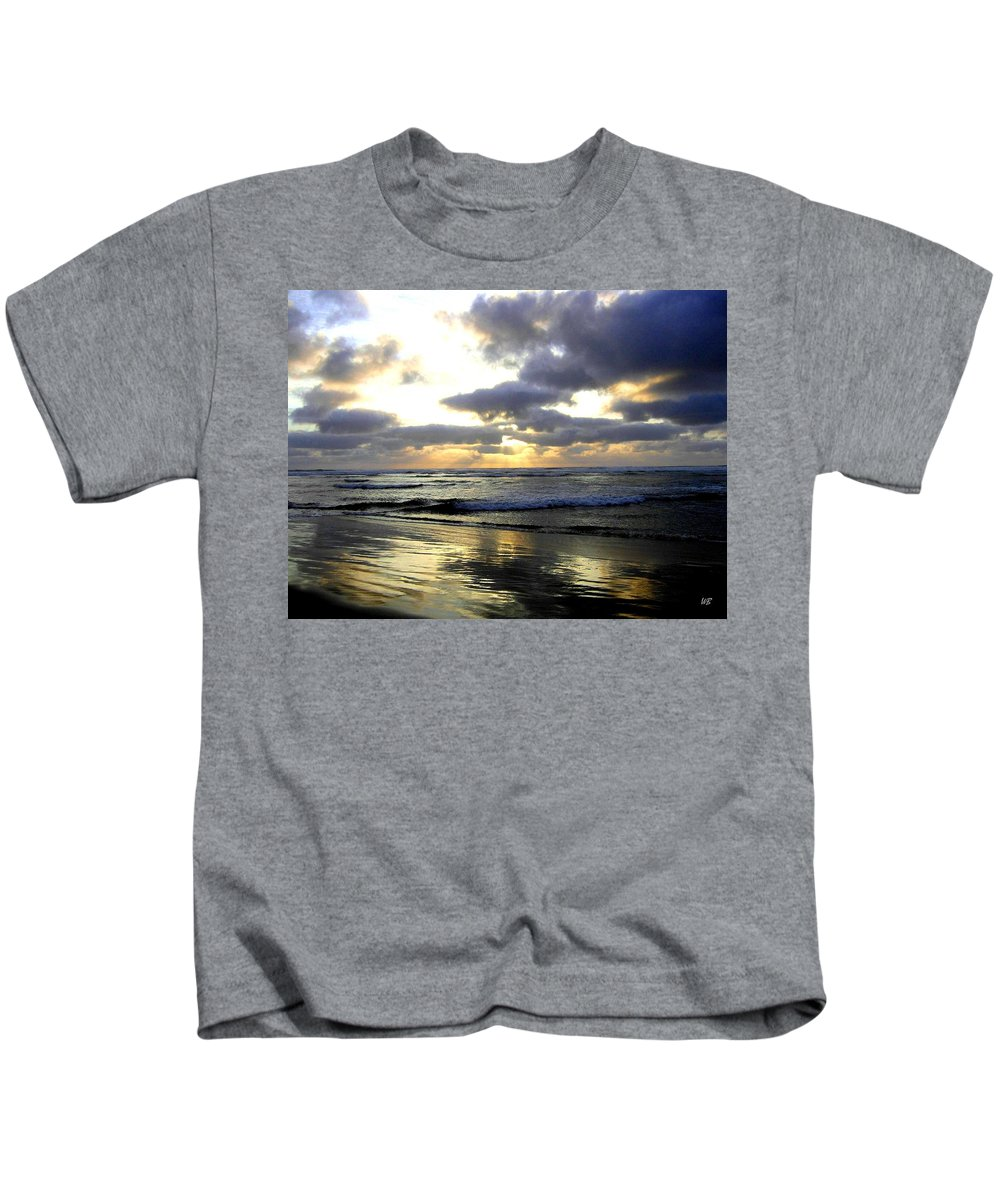 Sunset Kids T-Shirt featuring the photograph Silver Shores by Will Borden