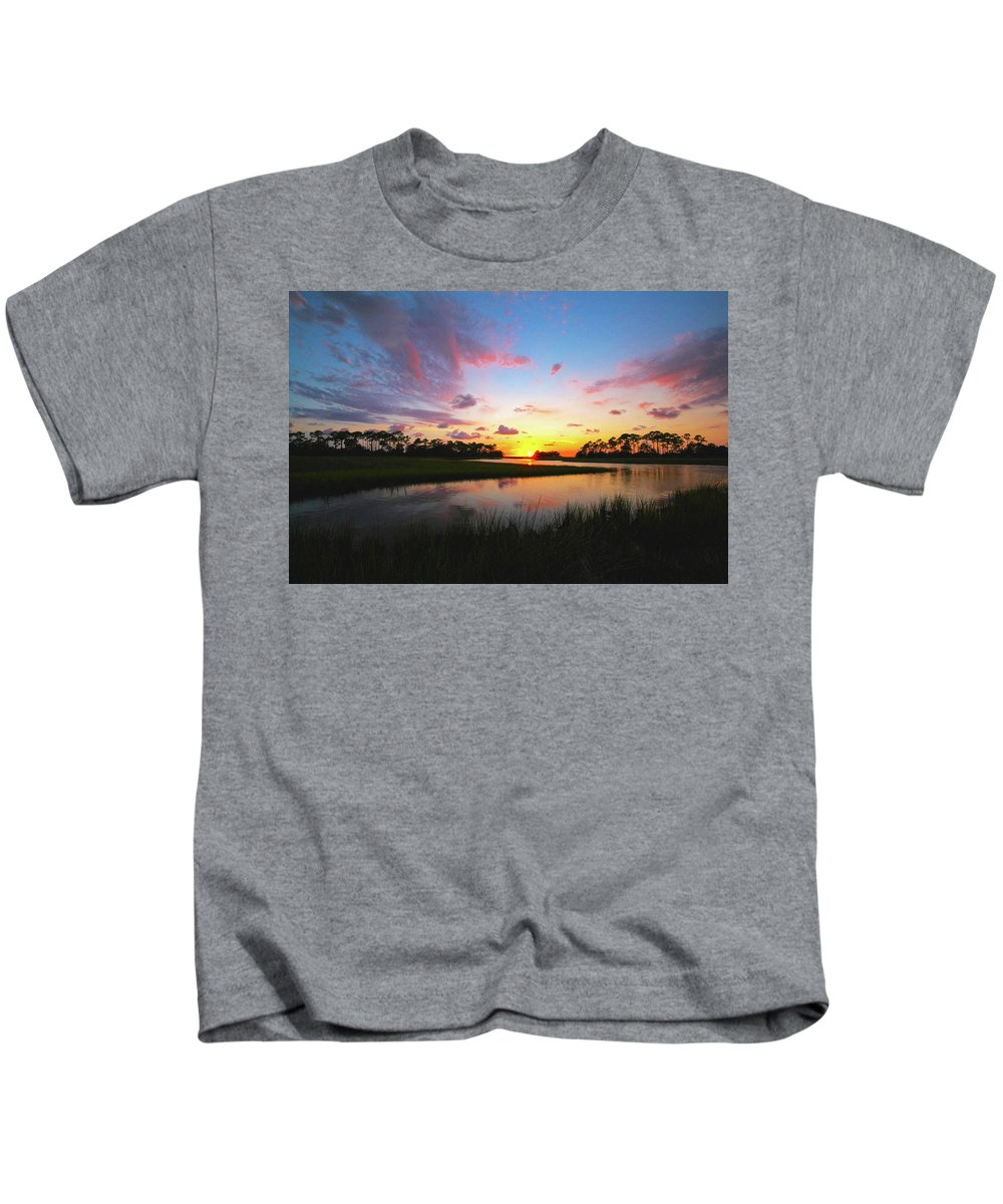 Sunset Kids T-Shirt featuring the photograph Sink Creek Sunset by Charlie Grindrod