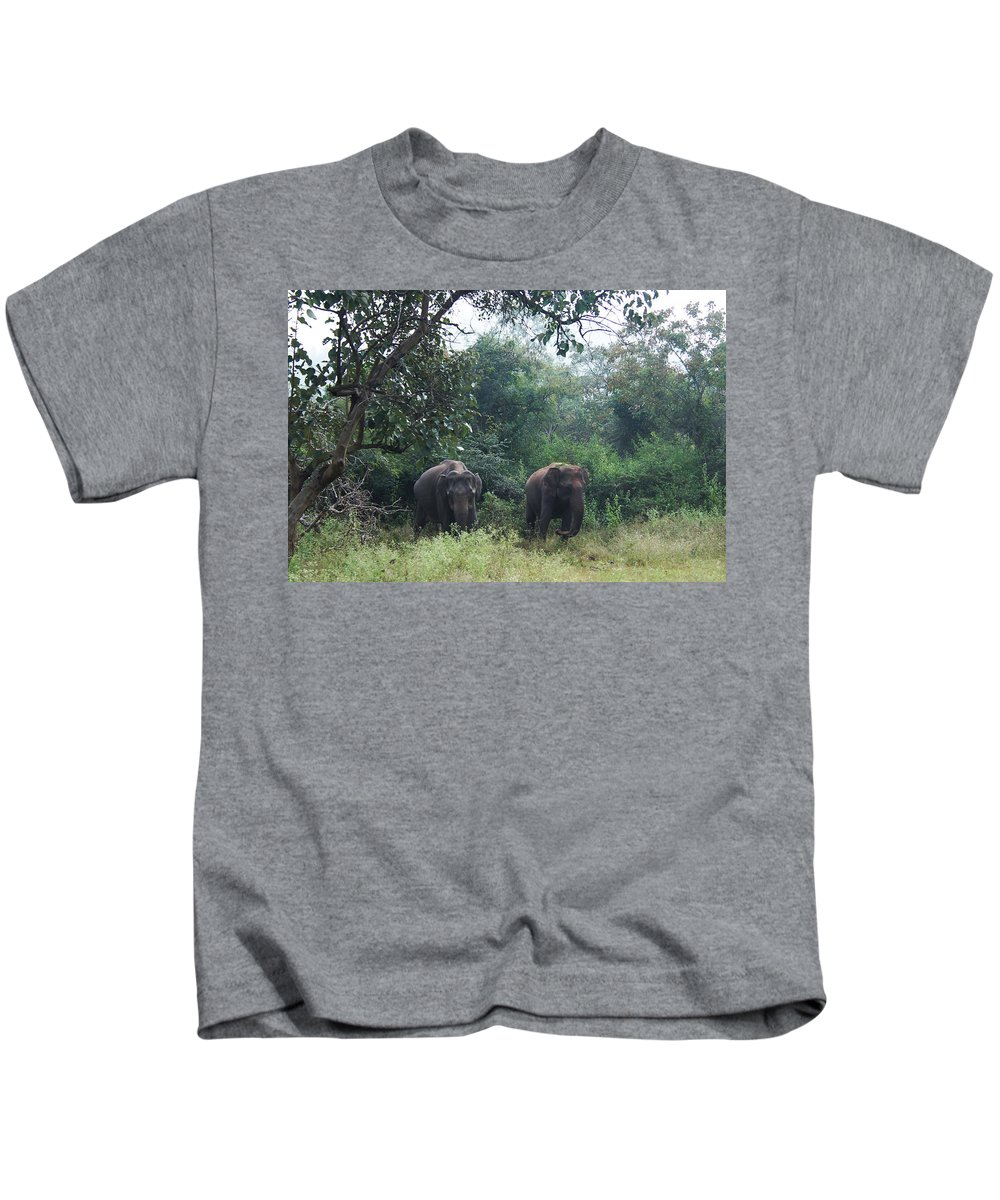 Wildlife Photography Kids T-Shirt featuring the photograph Sisters In Paradise Part 1 by David Thirumur