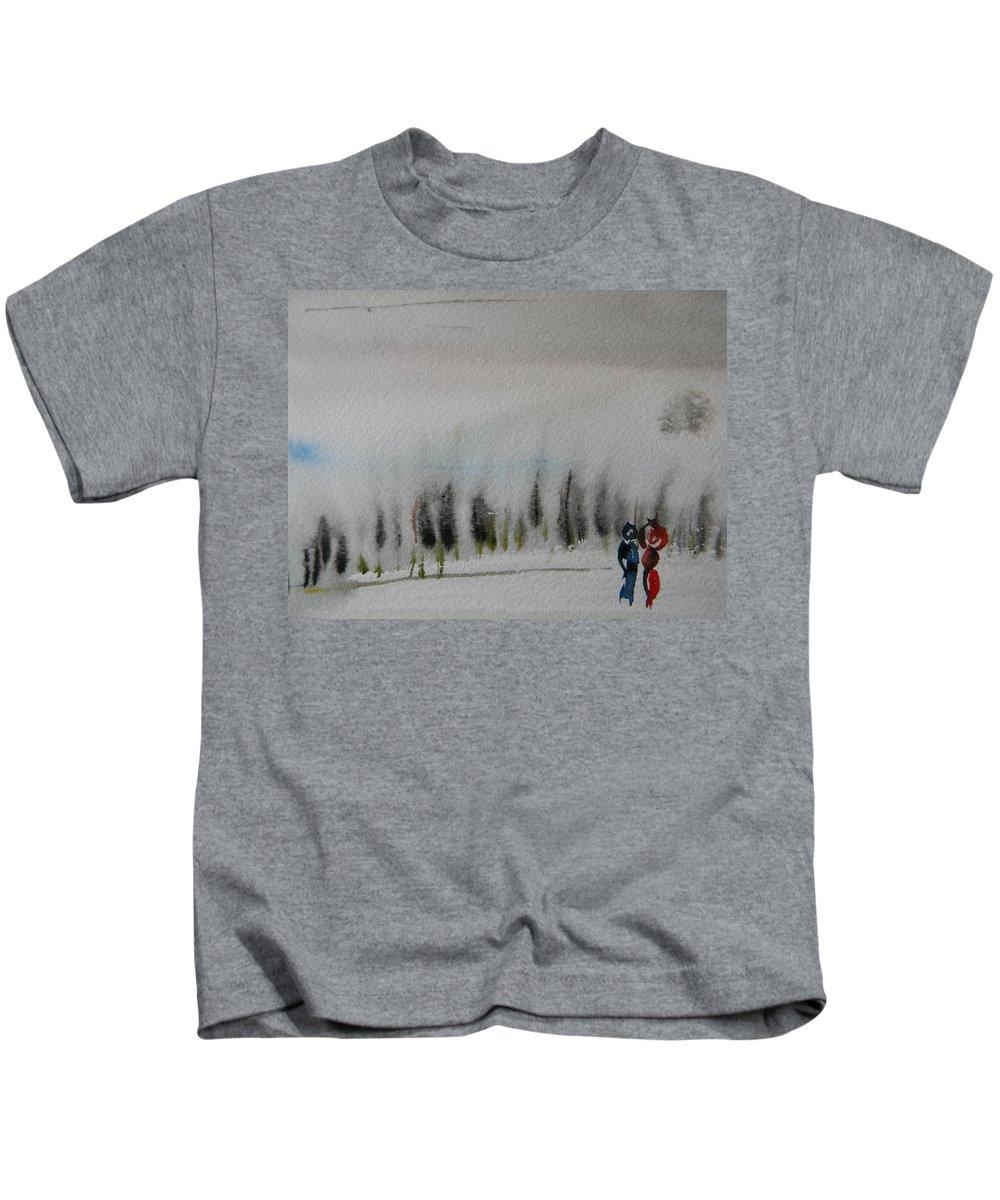 Dance Kids T-Shirt featuring the painting Six Seasons Dance Three by Marwan George Khoury