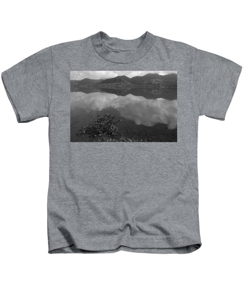 Nature Kids T-Shirt featuring the photograph Skc 3981 Nature's Mirror. by Sunil Kapadia
