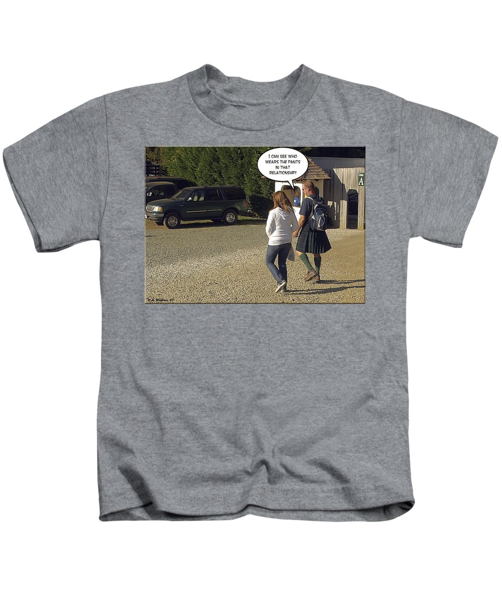 2d Kids T-Shirt featuring the photograph Skirting Around The Issue by Brian Wallace