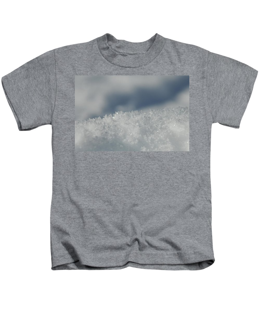 Ice Kids T-Shirt featuring the photograph Sky And Ice by Donna Blackhall