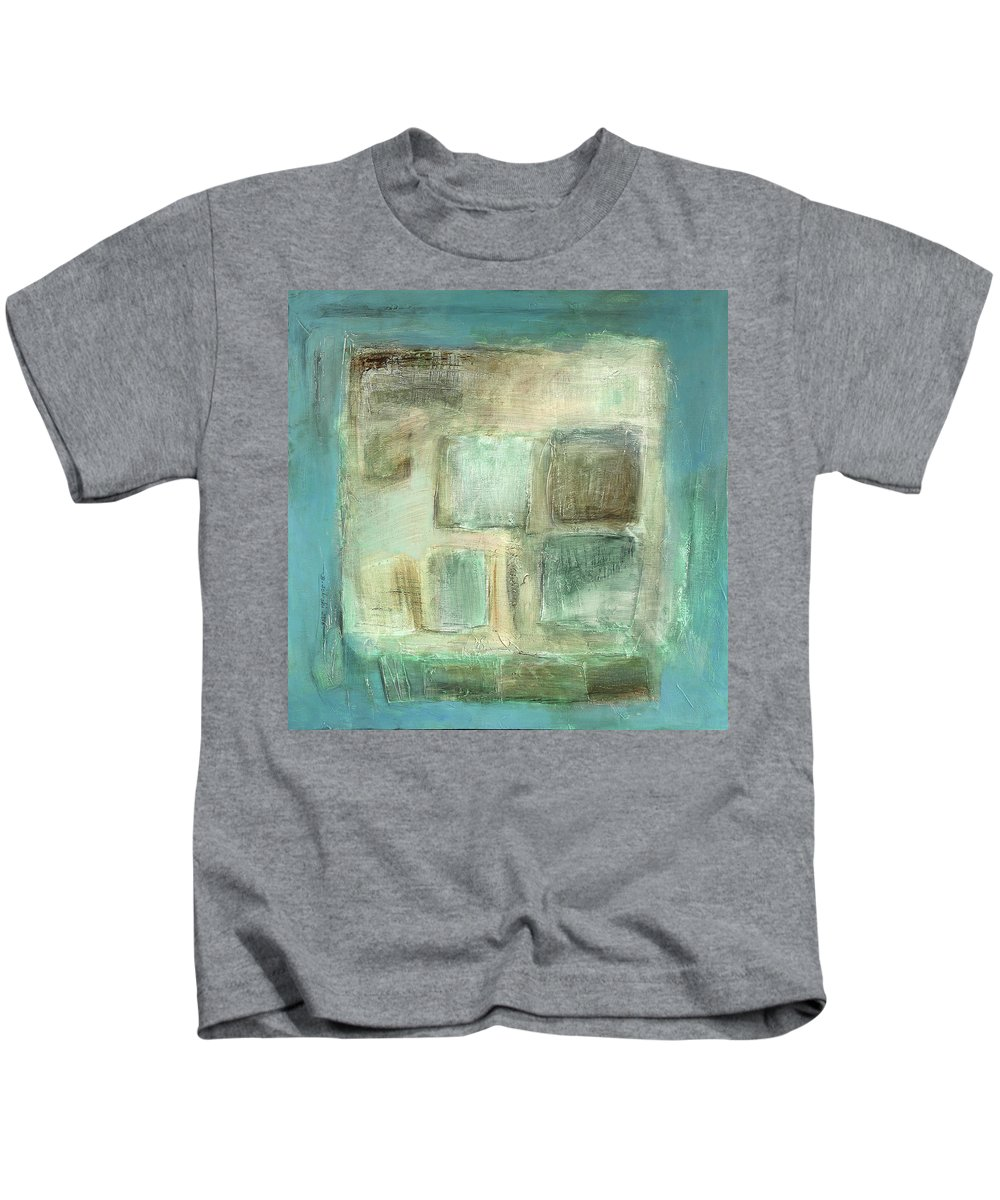 Sketching Kids T-Shirt featuring the painting Sky by Behzad Sohrabi
