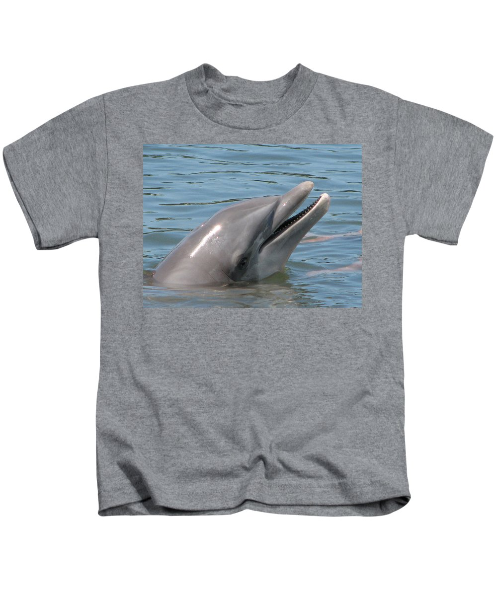 Dolphin Kids T-Shirt featuring the photograph Smile by Stacey May