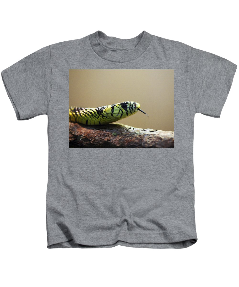 Snake Kids T-Shirt featuring the photograph Snake Tongue by Marilyn Hunt
