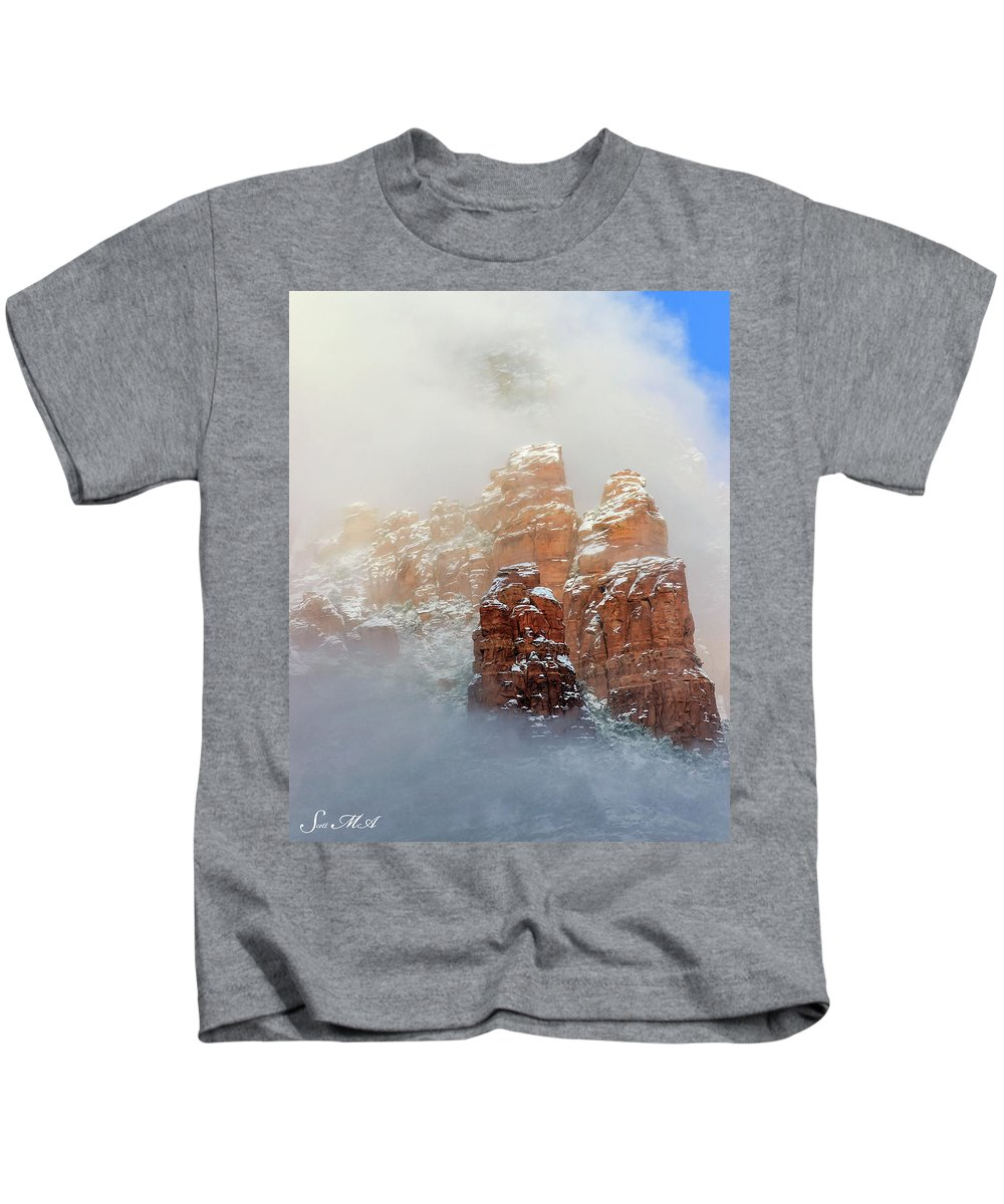 Sedona Kids T-Shirt featuring the photograph Snow 07-102 by Scott McAllister