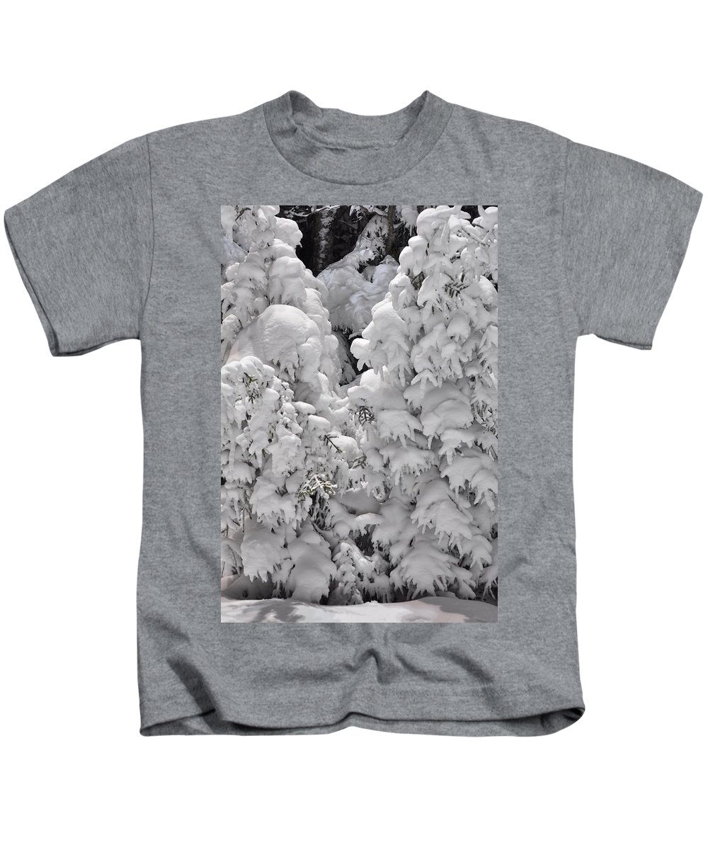 Snow Kids T-Shirt featuring the photograph Snow Coat by Alex Grichenko