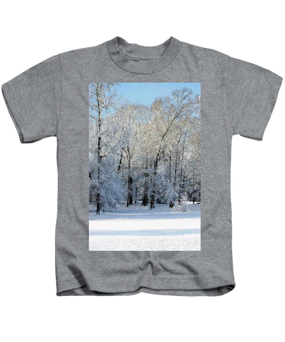 Snow Kids T-Shirt featuring the photograph Snow Scene One by Donna Bentley