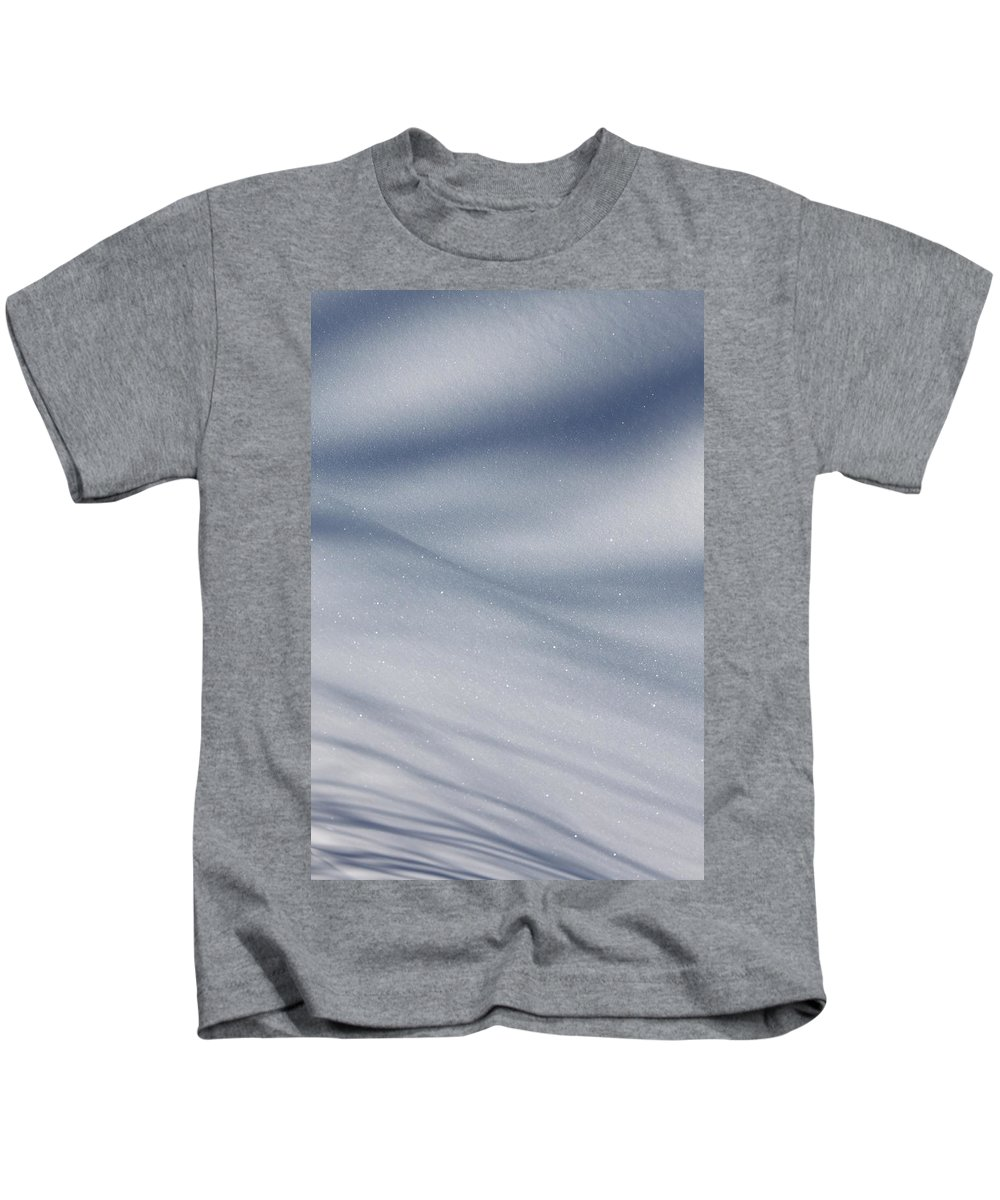 Snow Kids T-Shirt featuring the photograph Snowy Shadows 2 by Lauri Novak