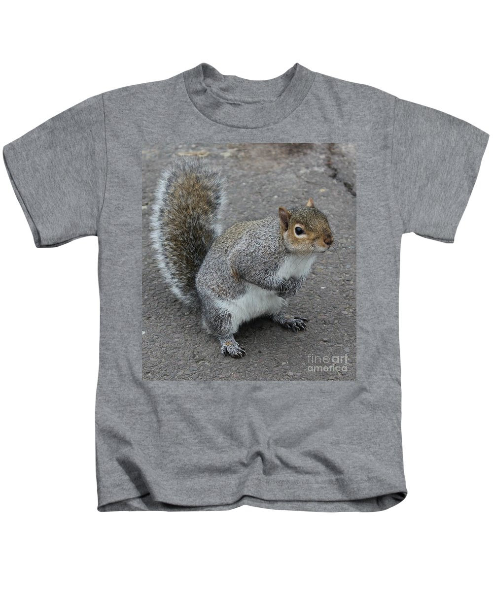 Squirrel Kids T-Shirt featuring the photograph So.... Got Nuts? by Vicki Spindler