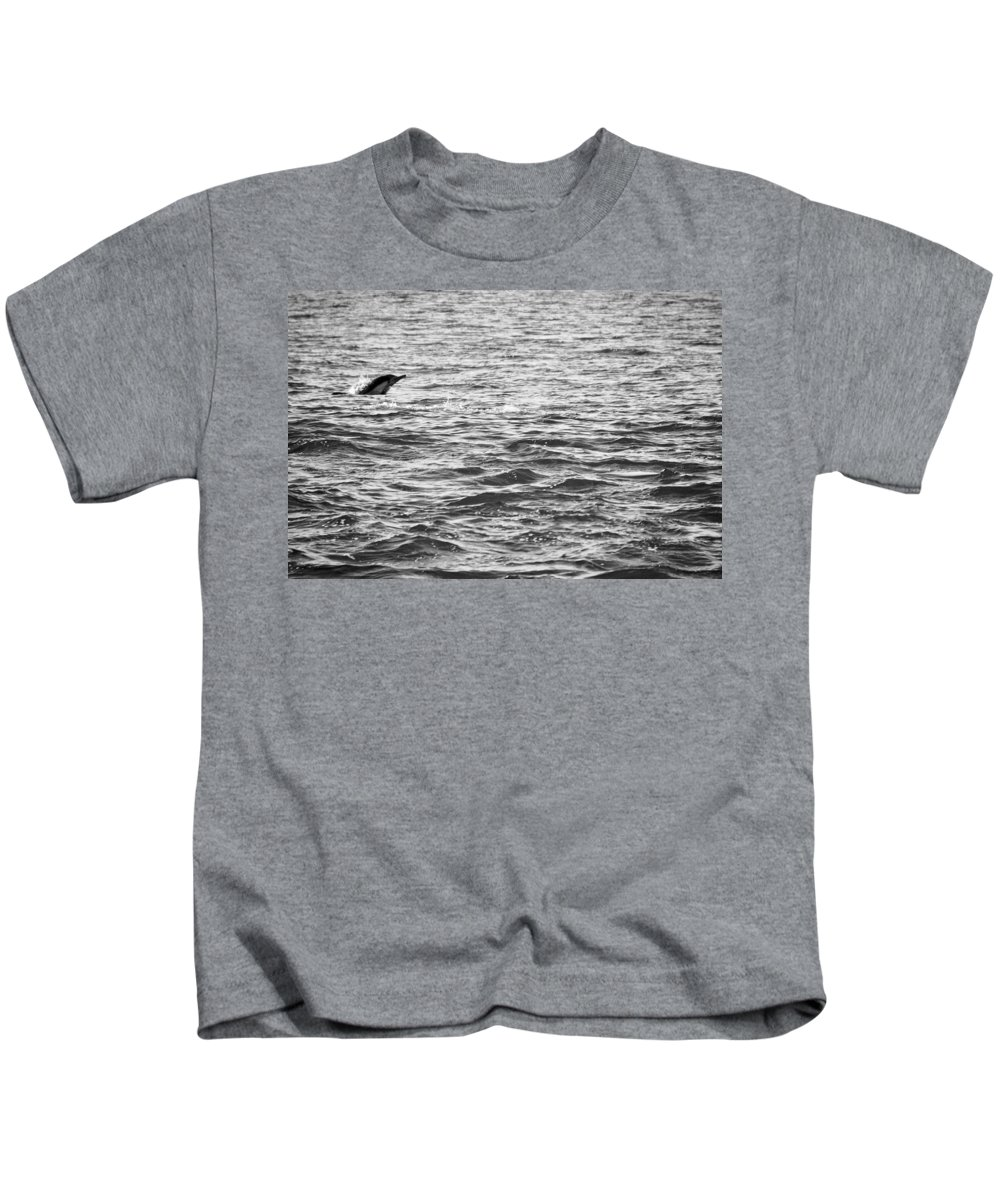 Dolphin Kids T-Shirt featuring the photograph Soar by Kellie Prowse