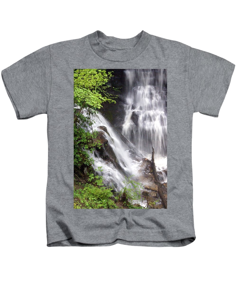 Soco Galls Kids T-Shirt featuring the photograph Soco Falls 2 by Marty Koch