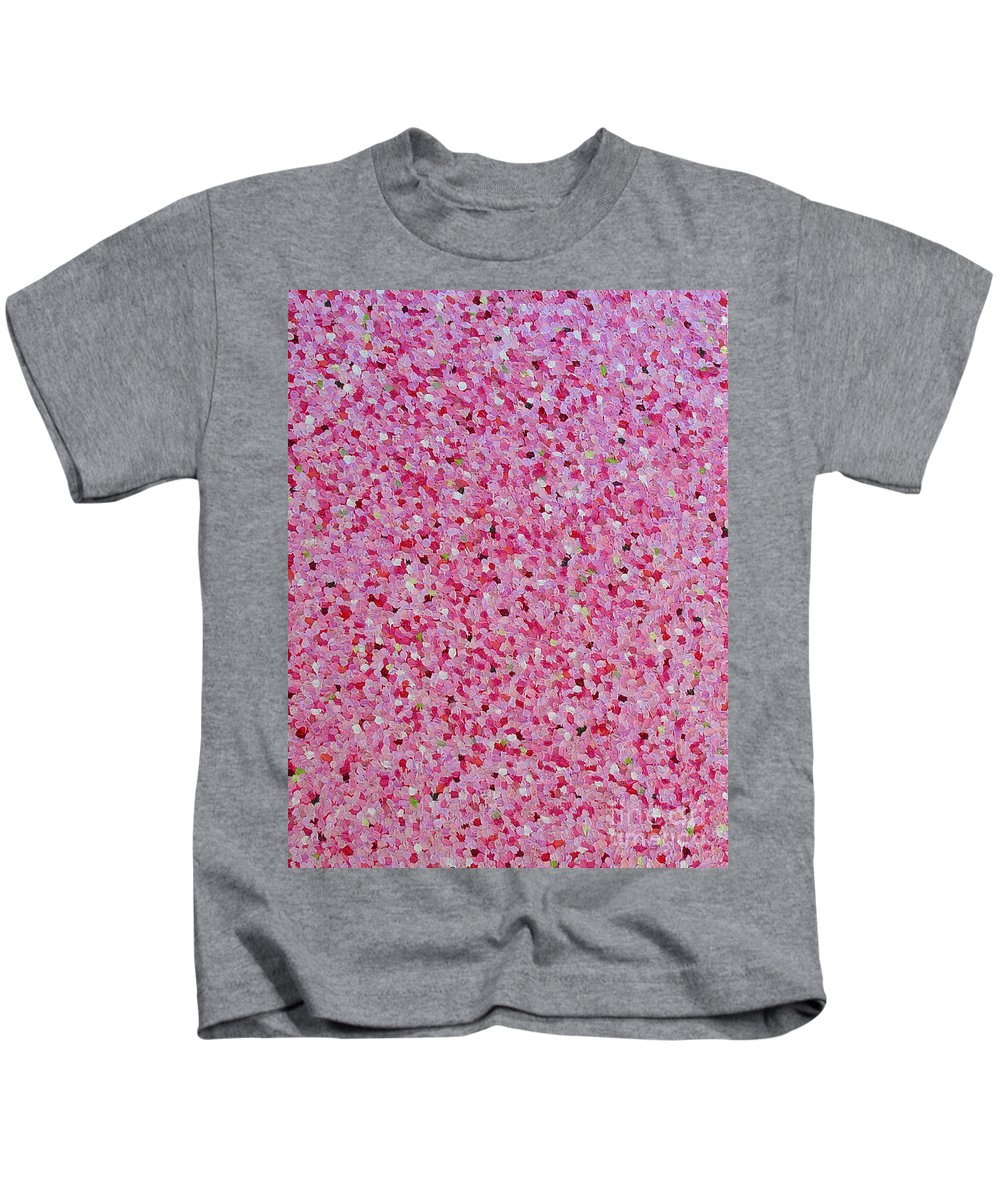 Abstract Kids T-Shirt featuring the painting Soft Red Light by Dean Triolo