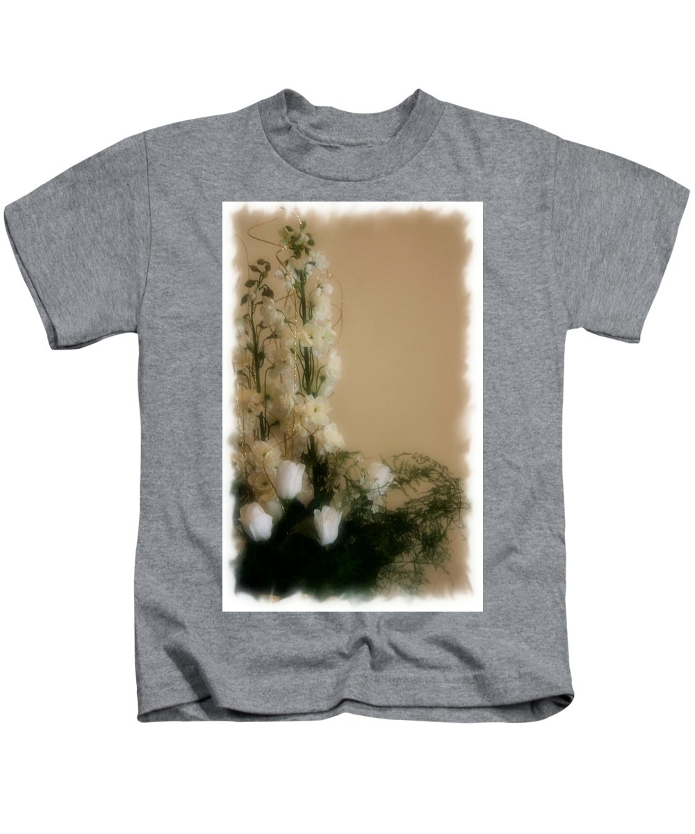 Roses Kids T-Shirt featuring the photograph Soft Whites by Kristin Elmquist