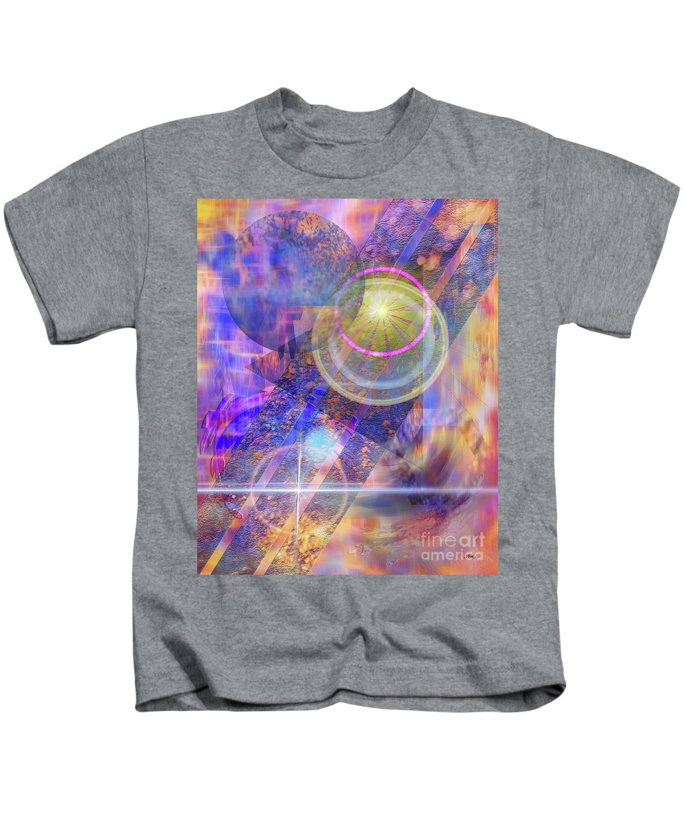 Solar Progression Kids T-Shirt featuring the digital art Solar Progression by John Robert Beck