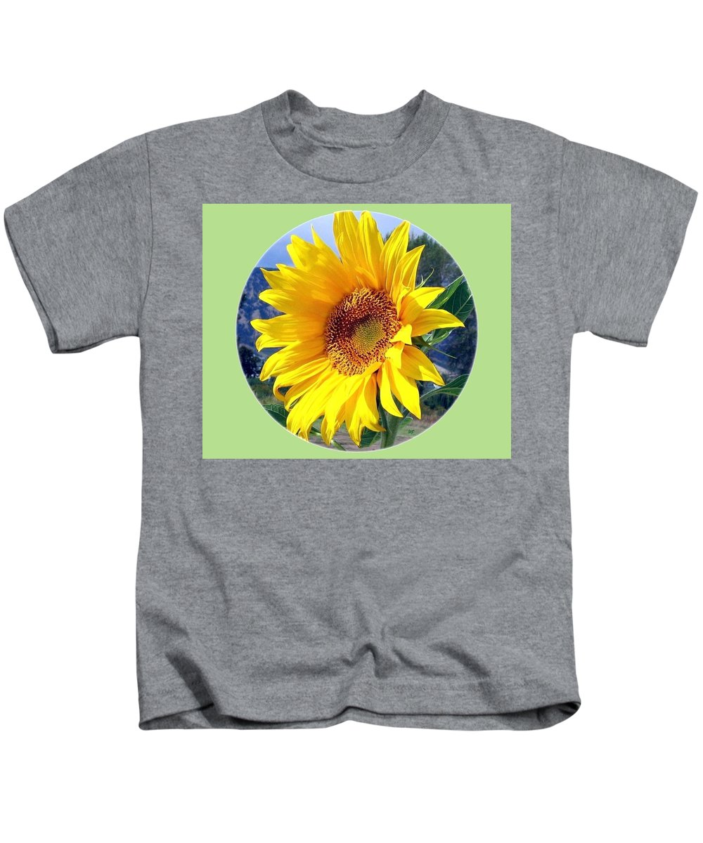 Sunflower Kids T-Shirt featuring the photograph Solid Sunshine by Will Borden