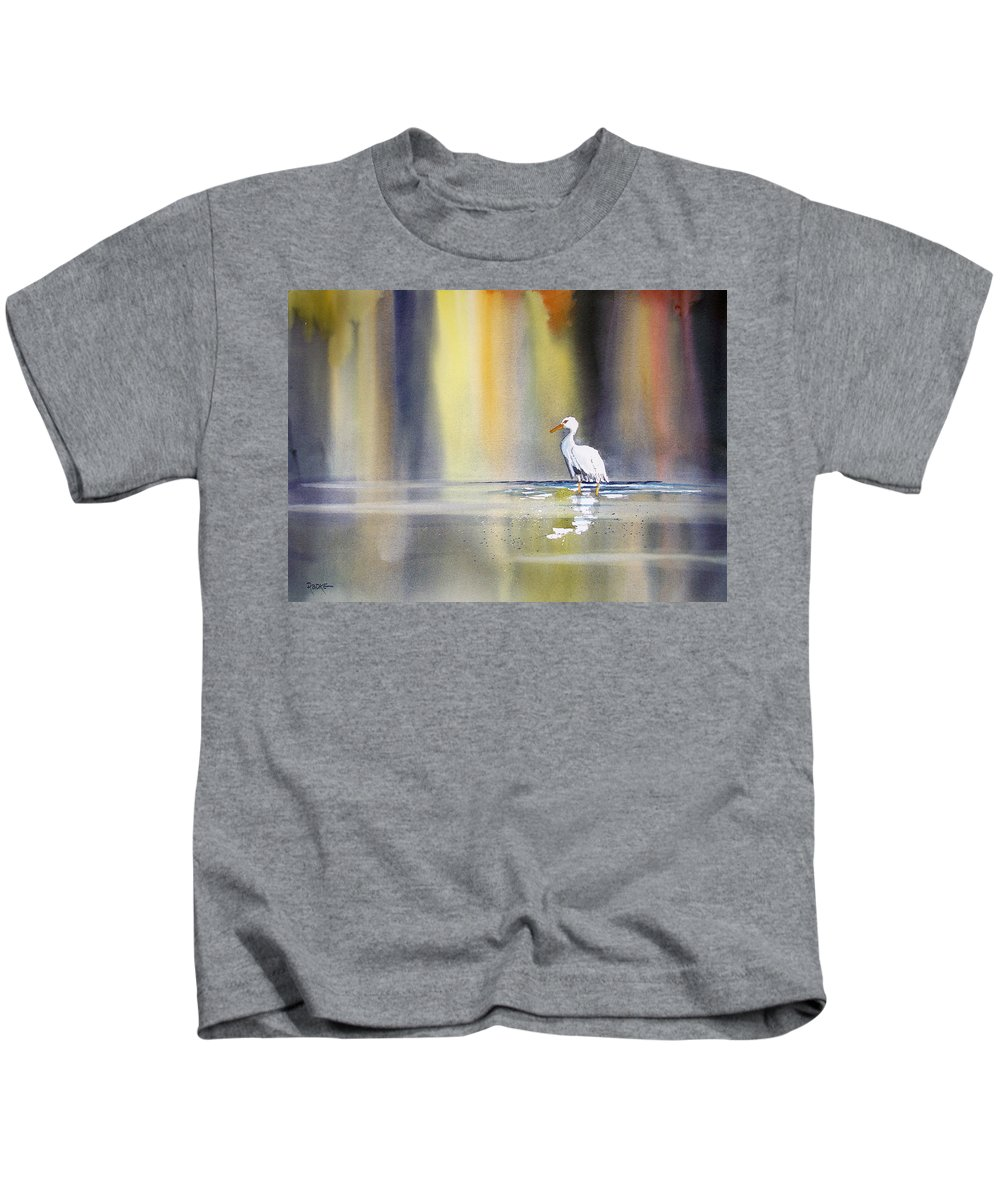 Watercolor Kids T-Shirt featuring the painting Solitude by Ryan Radke