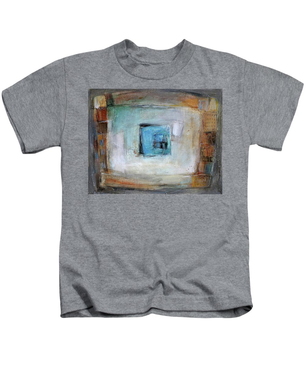 Sketching Kids T-Shirt featuring the painting Solo by Behzad Sohrabi