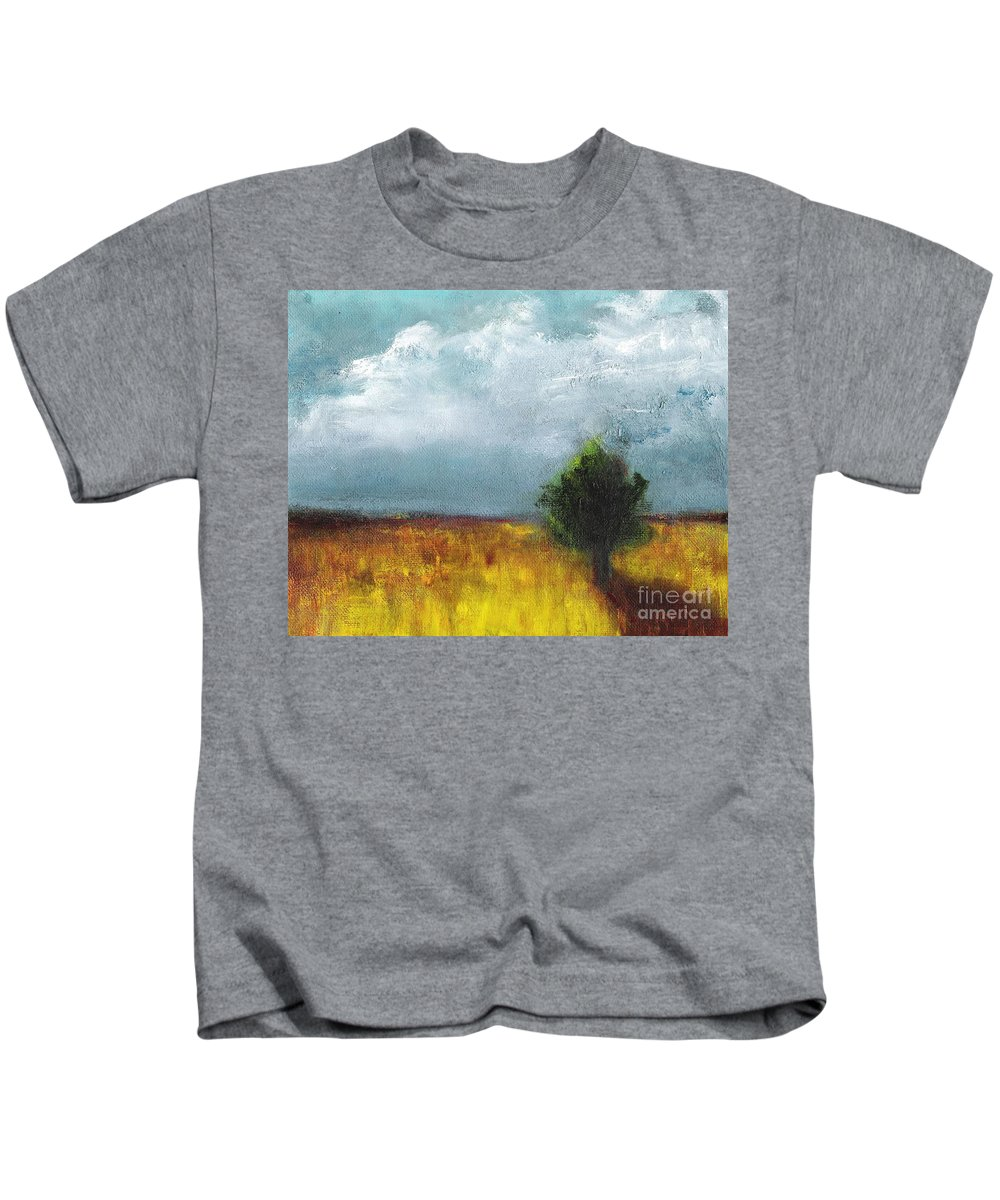 Landscapes Kids T-Shirt featuring the painting Sometimes The Light Is Just Right by Frances Marino
