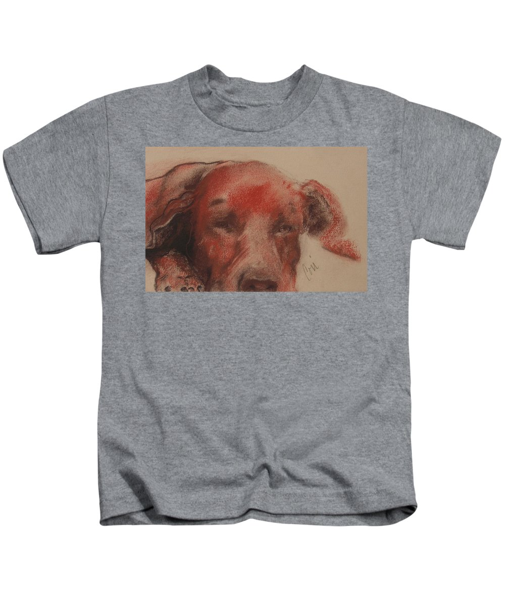 Pastel Kids T-Shirt featuring the drawing Soul Searcher by Cori Solomon