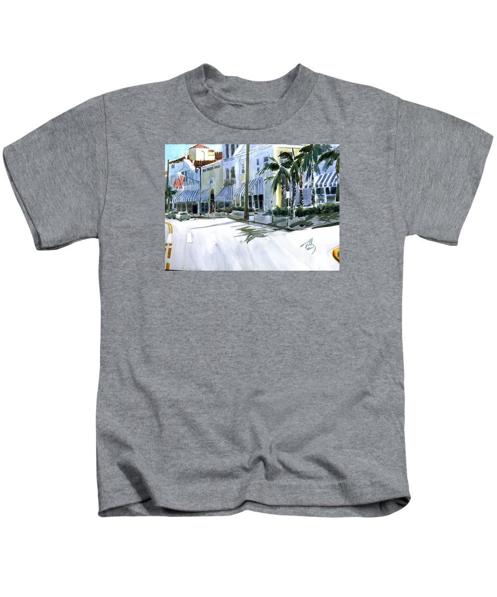 Landscape Kids T-Shirt featuring the painting South County Road by Thomas Tribby
