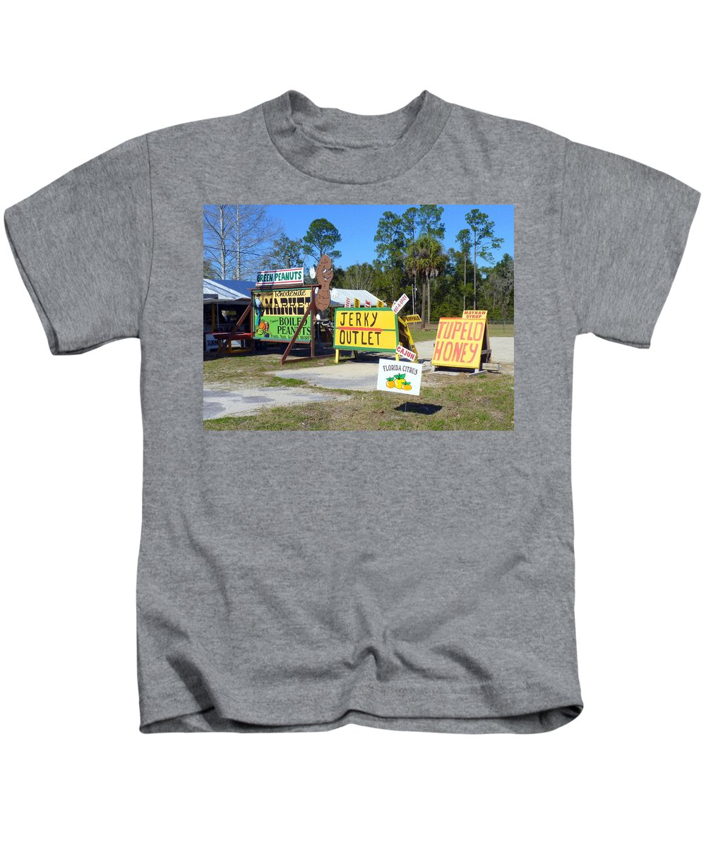 Sign Kids T-Shirt featuring the photograph Southern Delights by Carla Parris