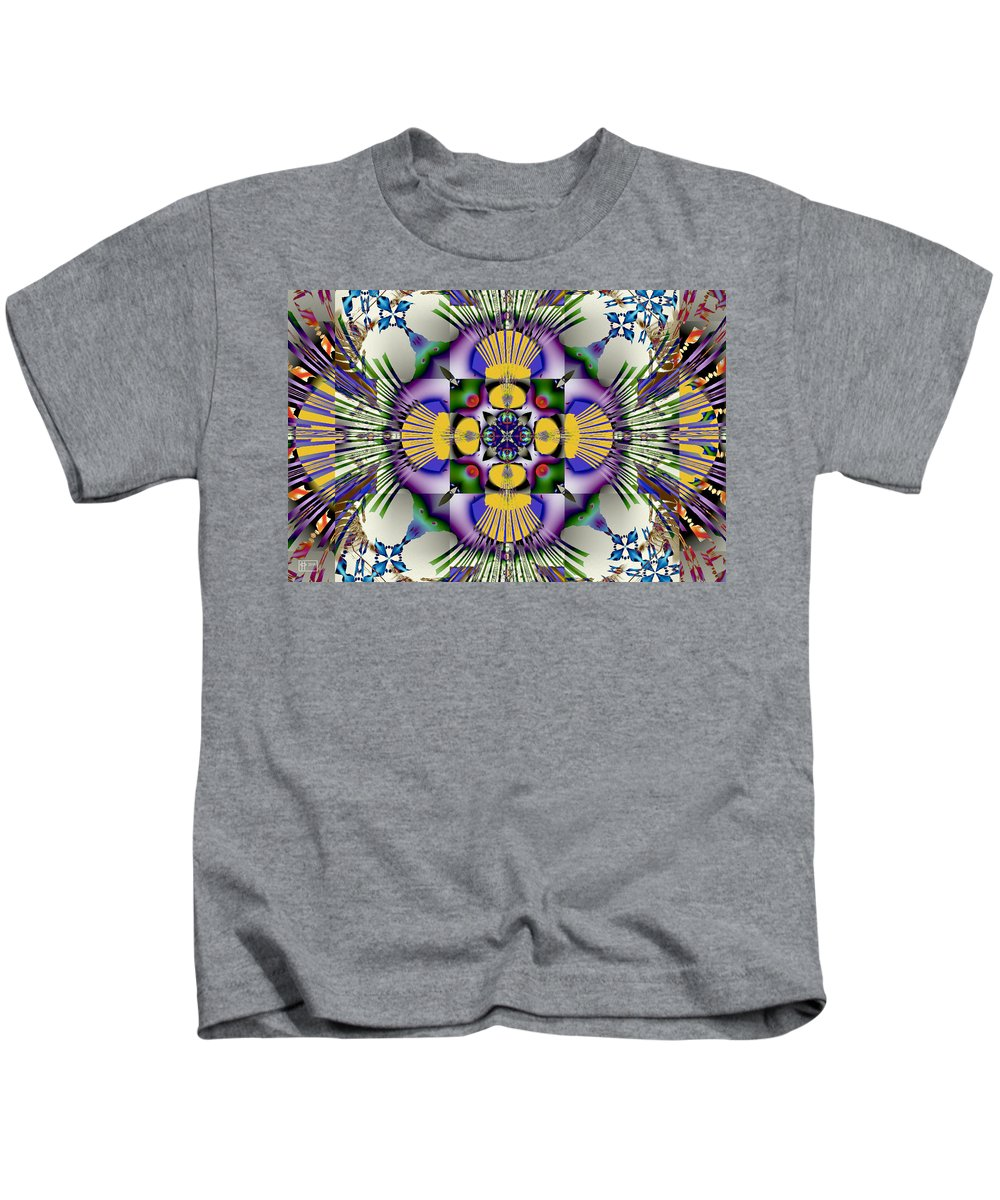 Abstract Kids T-Shirt featuring the digital art Spandex by Jim Pavelle