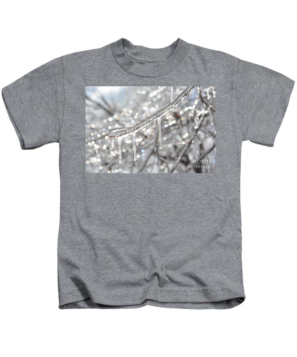 Icicle Kids T-Shirt featuring the photograph Sparkle by Vicky Tubb