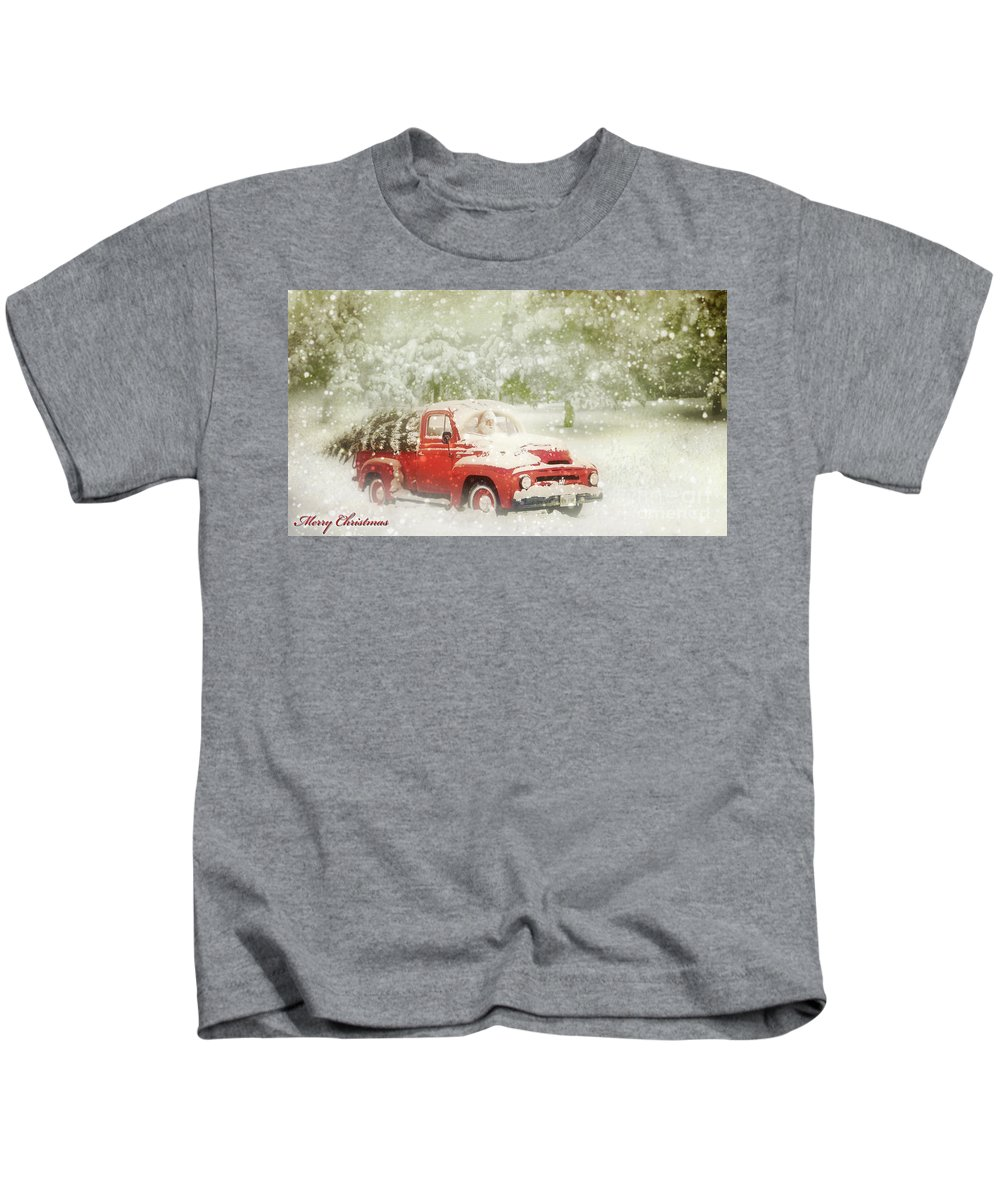 Christmas Kids T-Shirt featuring the photograph Special Delivery by John Anderson
