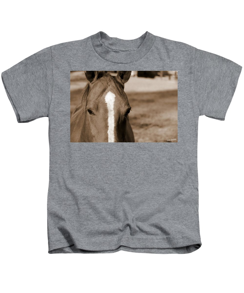 Speechless Kids T-Shirt featuring the photograph Speechless by Edward Smith