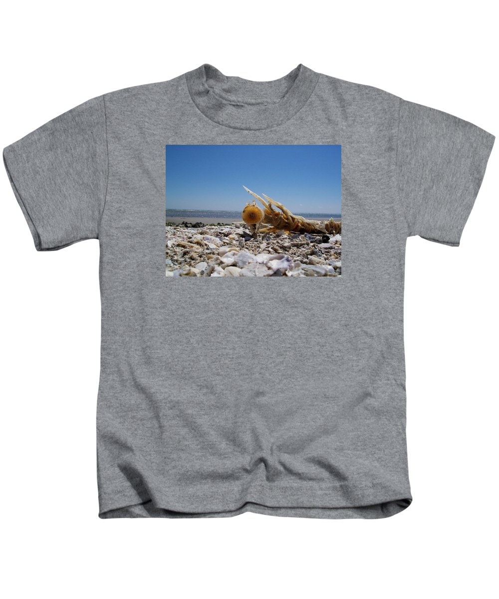 Beach Kids T-Shirt featuring the photograph Spineless by Laurette Escobar