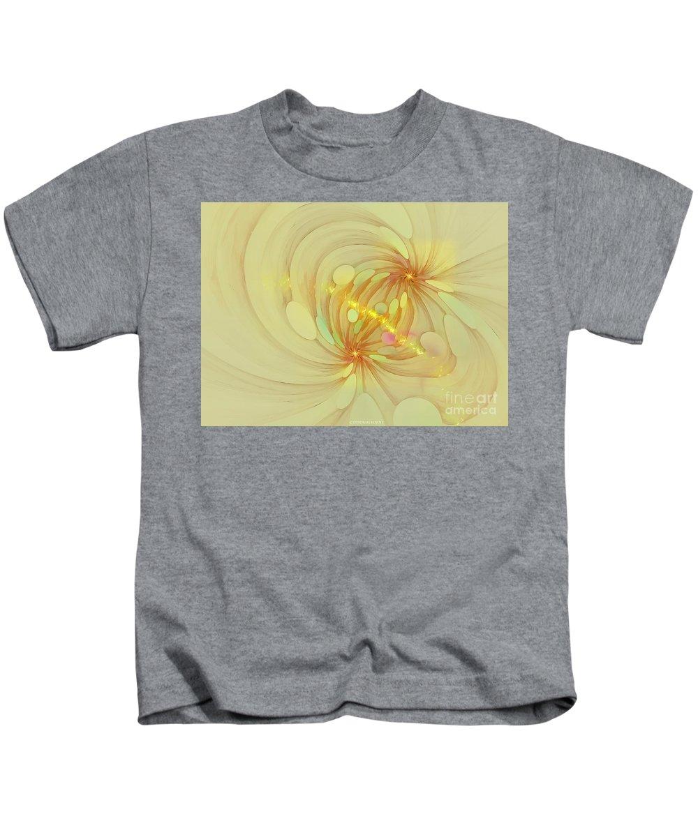 Fractal Kids T-Shirt featuring the digital art Spiral Mind Connection by Deborah Benoit
