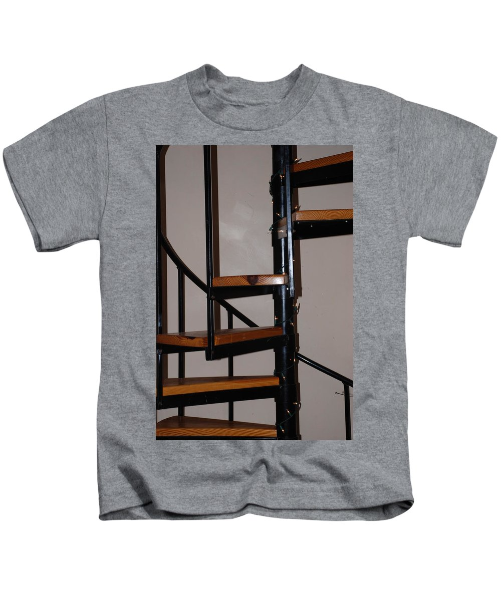 Stairs Kids T-Shirt featuring the photograph Spiral Stairs by Rob Hans