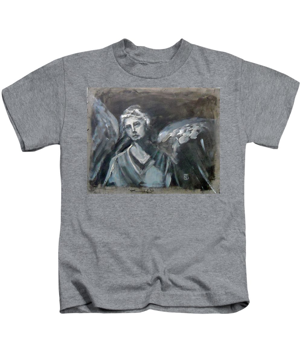 Angel Kids T-Shirt featuring the painting Spirit Prayers by Kathleen Barnes