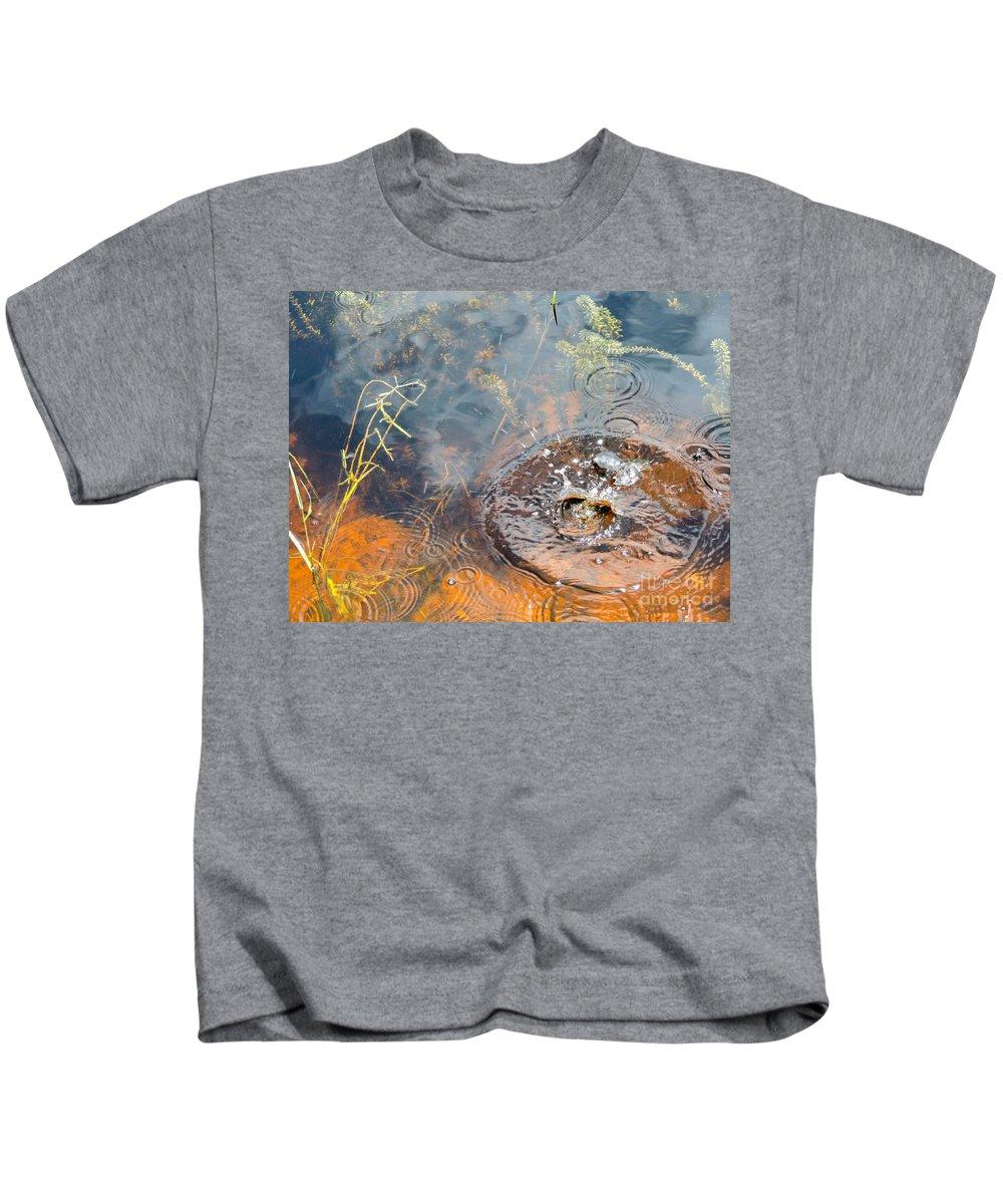 Splash Kids T-Shirt featuring the photograph Splash by Marilee Noland