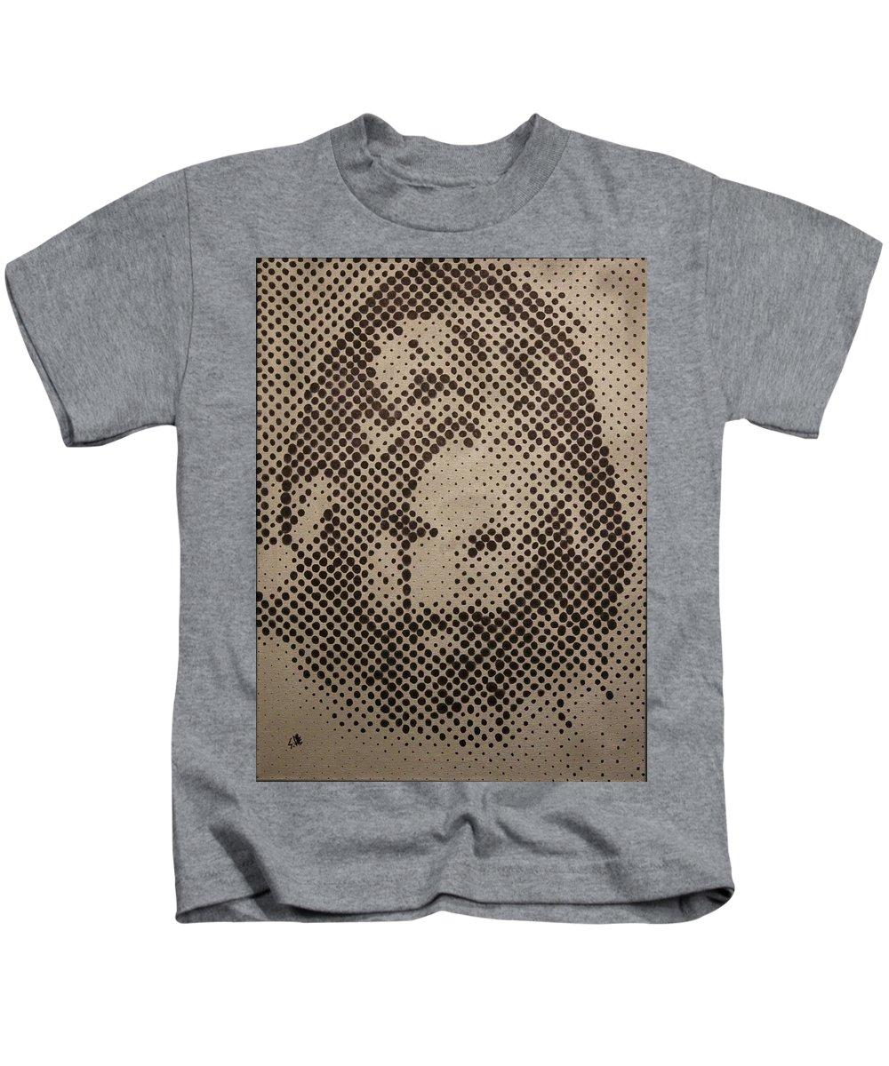Biblepaintings God Jesus Christ Christian Christianity Bible Gallery Fine Art Steven Louis Doucette Kids T-Shirt featuring the painting Spotless by Steven Louis Doucette