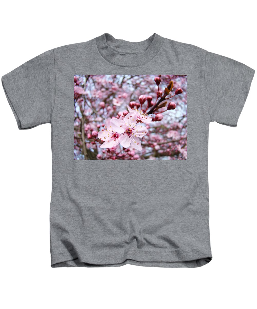 Blossom Kids T-Shirt featuring the photograph Spring Blossoms Art Pink Tree Blossom Baslee Troutman by Baslee Troutman