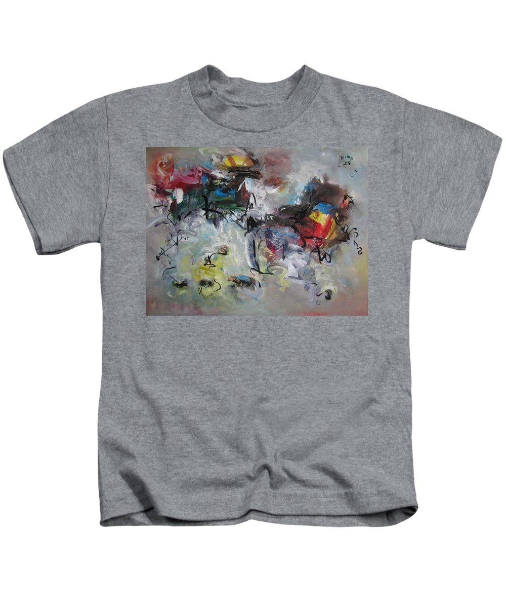 Painting Kids T-Shirt featuring the painting Spring Fever28 by Seon-Jeong Kim