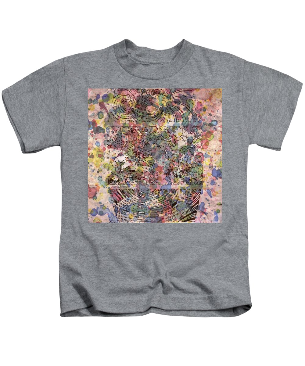 Digital Art. Abstract. Mad Vision. Riot. Explosion. Kids T-Shirt featuring the digital art Spring In The Air by Lawrence Allen