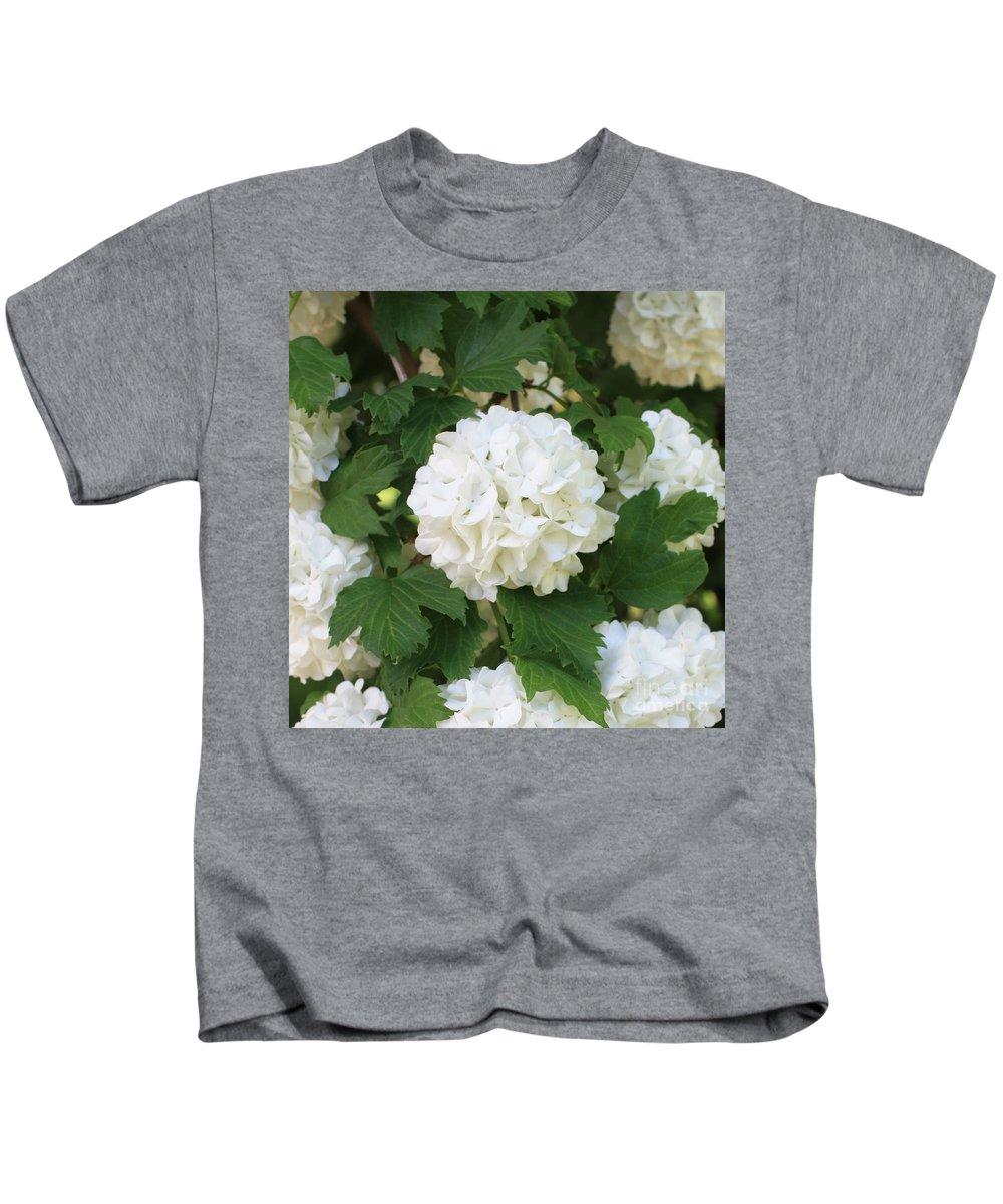 Snowball Tree Kids T-Shirt featuring the photograph Spring Snowball by Carol Groenen