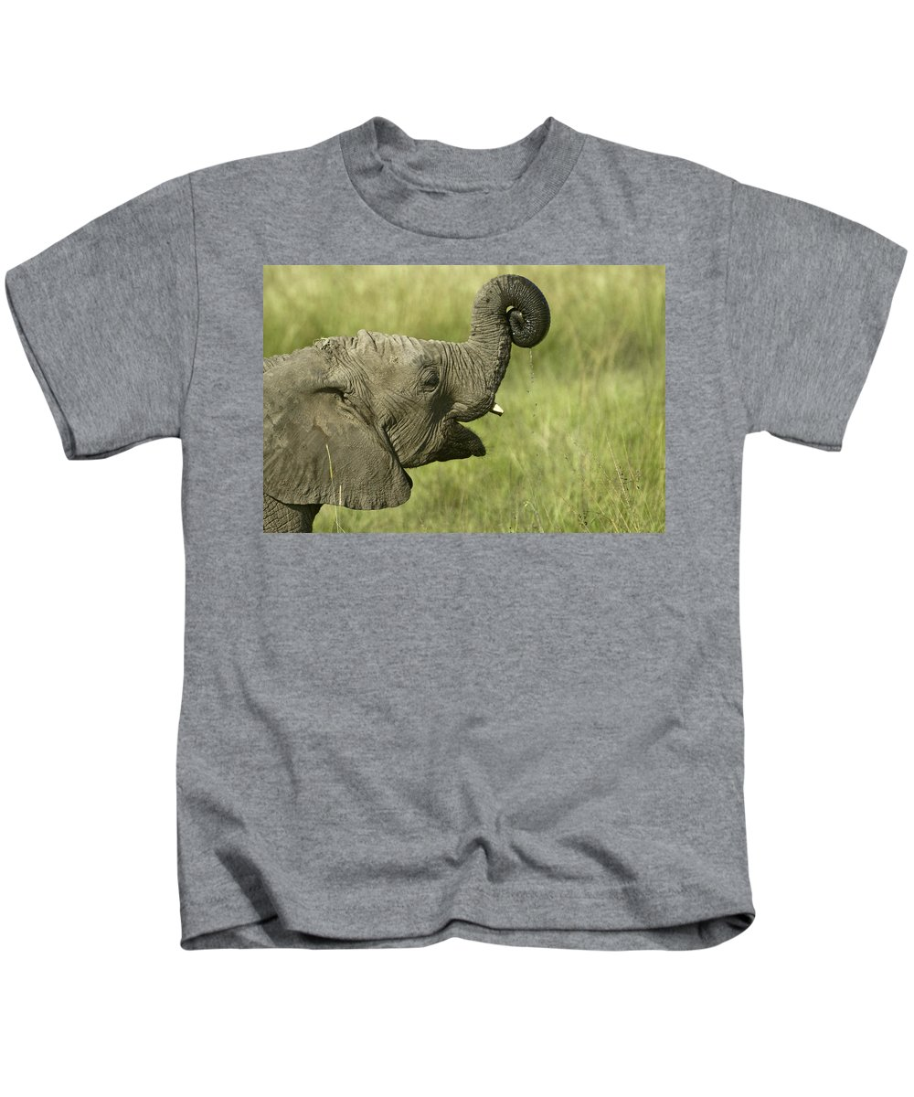 Africa Kids T-Shirt featuring the photograph Squirting Water by Michele Burgess