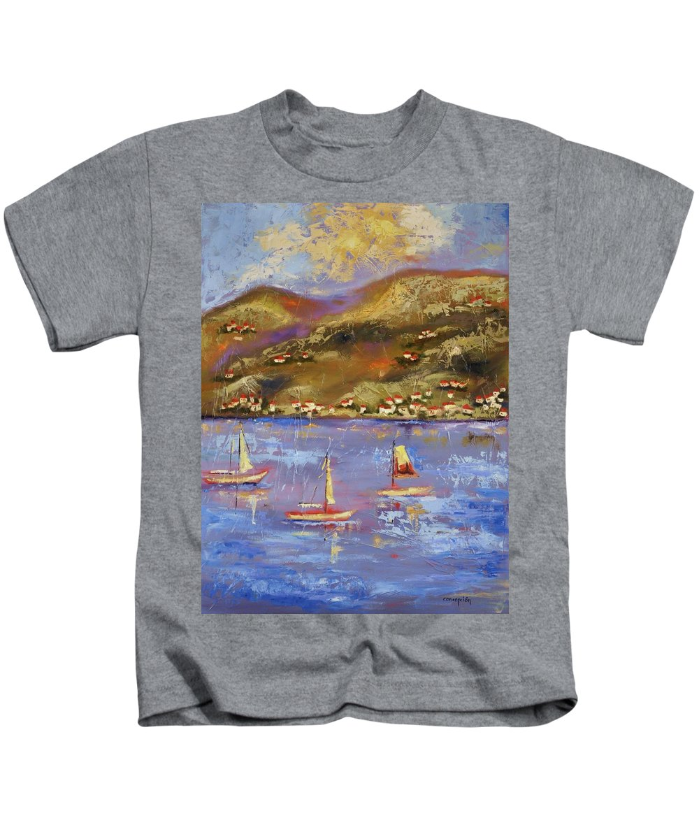 St. John Kids T-Shirt featuring the painting St. John Usvi by Ginger Concepcion