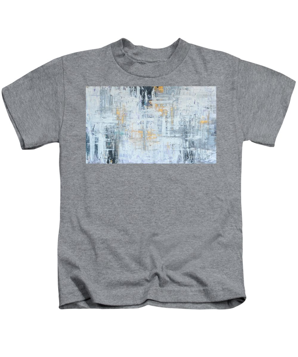 Gold Kids T-Shirt featuring the painting Stand Firm by Nadine Rippelmeyer