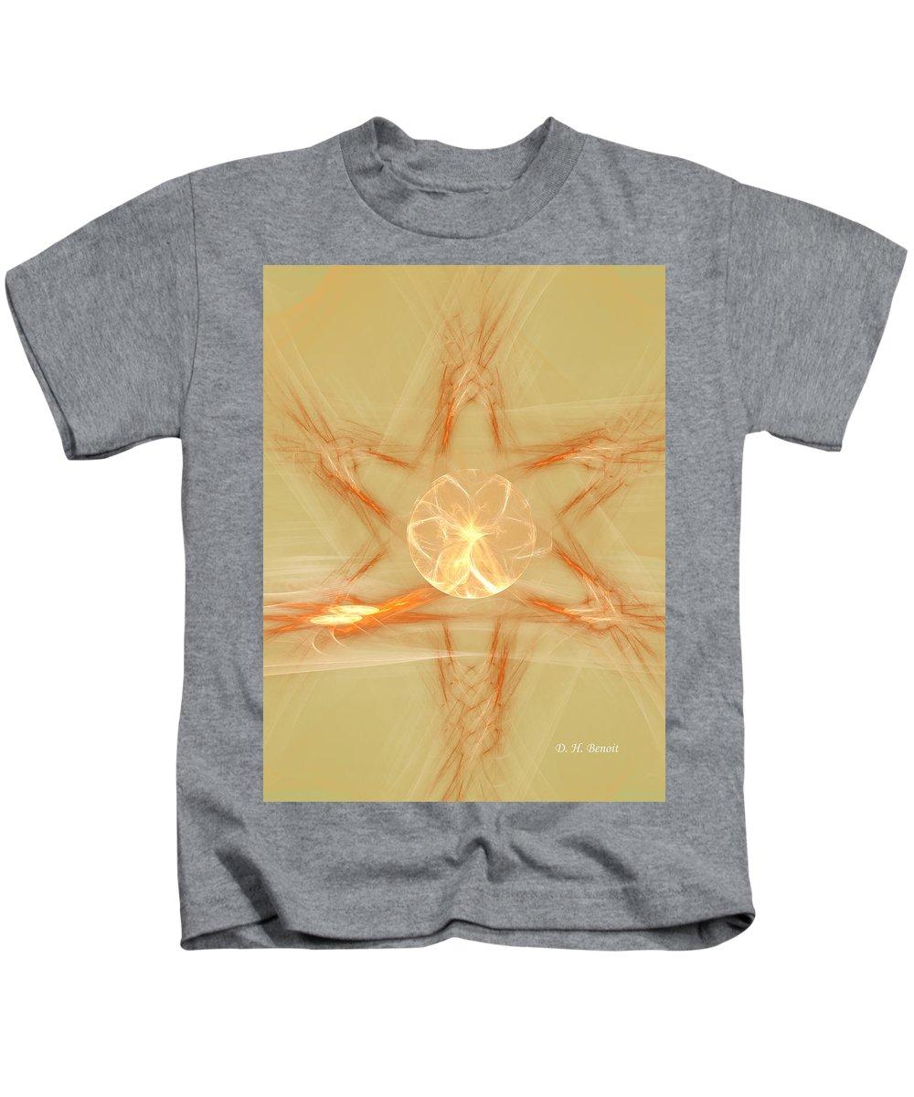 Fractal Kids T-Shirt featuring the digital art Star Of New Beginnings by Deborah Benoit